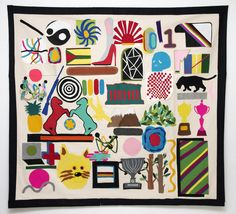 "David Méndez Alonso - ""Masonry Tapestry"". Felt, 160 x 140 cm."
