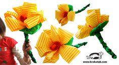 Как се прави цвете от тънка креп хартия