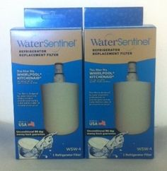 Water Sentinel WSW-4 Water Filter Replaces 046-9002, 04609002000, 0469002, 09002, 09002P, 2204324, 2204326, 2206039, 2206048, 2213384, 46-9002, 4609002000, 469002, 8171413, 8171413P, 8171413R, 8171413T, 8171414, 8171414P, 8171414R, 8171414T, 9002, 9002P, EFF-6009A, EFF-6010A, FILTER8, NL200, NLC200, NLCS200, PS390643, PS390645, SGF-W31,SGF-W41, WF-286, WF286, WFI-NL200, WFI-NLC200, WFI-NLCS200, 2 Pack . $36.98