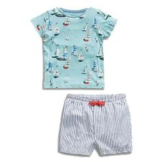Little maven brand children clothing 2017 new summer baby boy clothes cotton sailing boat children's sets 20106 Boys Summer Outfits, Toddler Boy Outfits, Baby Boy T Shirt, Baby Boys, Toddler Boys, Kids Boys, Baby Boy Clothing Sets, Children Clothing, Short Niña