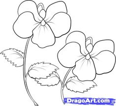 how to draw a bouquet of flowers step by step