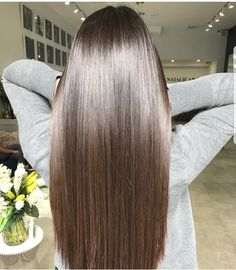 Best Shampoos for Keratin Treated Hair Beautiful Long Hair, Gorgeous Hair, Pretty Hairstyles, Straight Hairstyles, Dipped Hair, Shiny Hair, Brunette Hair, Great Hair, Hair Highlights