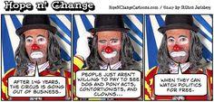 obama, obama jokes, political, humor, cartoon, conservative, hope n' change, hope and change, stilton jarlsberg, circus, ringling bros, competition