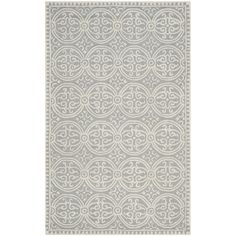 Cathay Rug in Silver & Ivory
