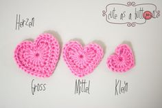 gratis Herz häkeln // DIY Deko Herz häkeln Crochet Quilt, Crochet Chart, Crochet Baby, Crochet Flats, Crochet Stitches, Hat Crochet, Baby Knitting Patterns, Crochet Patterns, Crochet Flowers