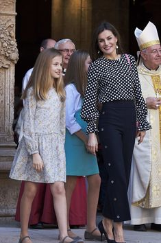 Queen Letizia of Spain attends the Easter mass on April 1, 2018 in Palma de Mallorca, Spain.