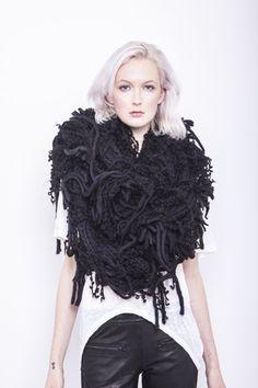 Black Rura Scarf by Heather Lawton