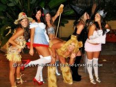 Cheap and Easy Wizard of Oz Girl's Group Costume... This website is the Pinterest of costumes