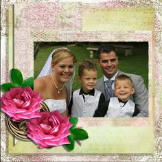 Wedding scrapbooking layouts using Carolyn scrap creations.  Find all her links on Facebook group DIGI ART DEN.