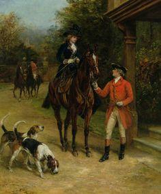 Heywood Hardy - A Hunting Morn