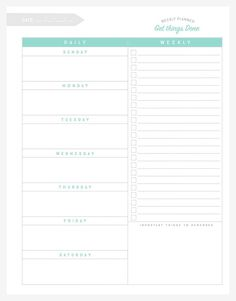 Free Organizational Printables to Streamline Your To-Do Lists, Your Schedule, Your Meal Plans—Your Life - simple as that