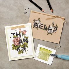 Floral Statements Clear-Mount Stamp Set