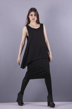 Cocktailkleider - NARA   Elegantes Kleid für mollige 2 lagig schwarz - ein Designerstück von Berlinerfashion bei DaWanda