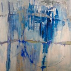 Cool Waters by Ann Keane, 48 x 48, oil and cold wax on canvas, $7,200