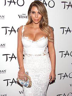 Kim Kardashian lace outfit