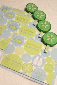 I like the little magnets - good gift idea (these are spa invites with little magnets)