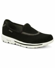 Skechers Women's Shoes, Go Walk Sneakers Women's Shoes (886005448951) What are you waiting for? Sketchers' Go Walk sneakers are ready to go. The easy slip-on style features a stretch center top panel with a pull on heel design.
