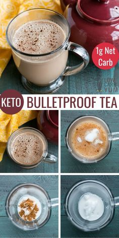How to make Bulletproof tea in just minutes. It's a high fat keto tea recipe that's rich and creamy like a latte. How to make Bulletproof tea in just minutes. It's a high fat keto tea recipe that's rich and creamy like a latte. Low Carb Drinks, Healthy Drinks, Yummy Drinks, Healthy Food, Salty Snacks, Keto Snacks, Tea Recipes, Low Carb Recipes, Shake Recipes