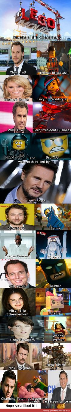 Voices of the Lego Movie