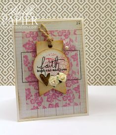 Julia Stainton: Belle Paperie (Pretty Paper): – Faith Hope & Love Stamped Vellum - 6/19/14