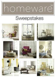 Win Your Favorite Homeware Chair, Ottoman, Or Table #HomewareSweepstakes