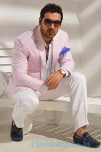 http://cinemaza.co.in/photos/john-abraham-grasim-collection-2014-photoshoot  Bollywood's super hot actor John Abraham poses for a special photoshoot for Grasim collections 2014. Look how hot the star looks.. is he not handsome enough.