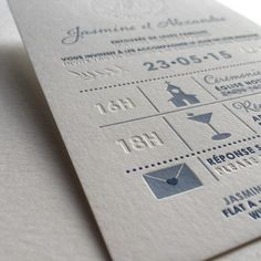 Print : Badcass - Design : Mister M - Faire-part de mariage en letterpress - #débossagepur