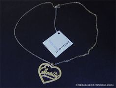 """Sterling silver Eternity's Heart necklace. Inspiration for this piece came from Ecc 3:11 """"God set eternity in the heart of man"""" by DesignerEmporio, $95.00"""