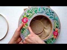 Holiday Wreath Double Embroidery Hoop Tutorial (1 of 2) - YouTube