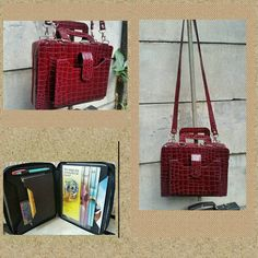 Hey, I found this really awesome Etsy listing at https://www.etsy.com/listing/260426869/burgundy-croc-service-bag