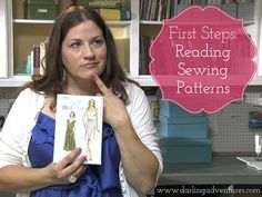 Learn how to read sewing patterns with this video tutorial from www.darlingadventures.com #sewing #sewingpattern