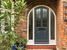 This slate grey 4 panel 1930's door is very unique as it is in an arched entrance way. It is rare to see a front entrance with a lovely arch such as this one so it is always a treat to be able to work on these beautiful types of doors.