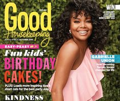 The new issue of Good Housekeeping, with the fabulous Gabrielle Union on the cover, is on sale now! Here's what you can expect to read inside Gabrielle Union, Time Design, Beautiful Cover, Stylish Kitchen, Good Housekeeping, Short Cuts, Easy Peasy, Best Part Of Me, Cool Kids
