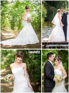 Laverna esküvői ruha - Pronovias kollekció - Adrienn menyasszonyunk  http://mobile.lamariee.hu/menyasszonyi-ruha-kollekciok/eskuvoi-ruhak/pronovias-od/laverna