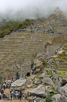 Stone Steps, Machu Picchu, Peru