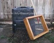 How to build a compost sifter
