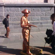 Street artist in Santiago, Chile