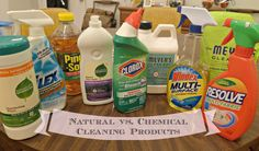 Well and Cheaply Natural vs. Chemical Cleaning Products