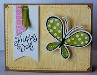 Happy Day Spring Butterfly Card