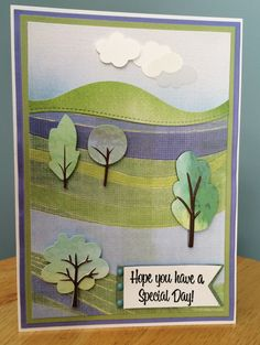Hope You Have a Special Day Handmade Greeting Card-Watercolor Spring or Summer Scene-Happy Birthday, Thinking of You, Friendship Card by TreasureIslandCards on Etsy