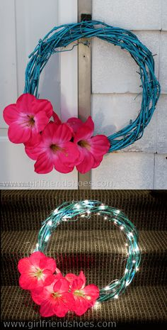 How to Make a Summer Wreath | Girlfriends Are Like Shoes
