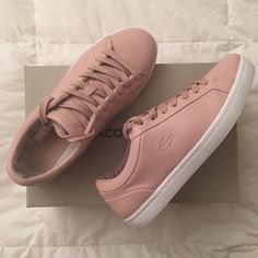 edac870f4dfd Shop Women s Lacoste Pink size 9 Sneakers at a discounted price at Poshmark.