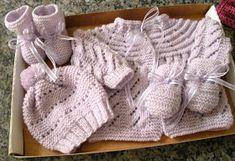 fios de lãs e linhas: Conjuntinho em tricot para bebê
