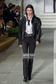 Model Kendall Jenner walk the runway at Ralph Lauren Spring Summer 2017 fashion…