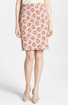 Halogen® Stretch Cotton Blend Pencil Skirt (Regular & Petite) available at #Nordstrom