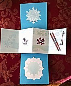 Mit Liebe selbstgemacht von Petra Heinrich.Twist & Pop-up Card. Stampin up Festive Flurry und Amy Design Wintertide.