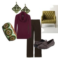 winter look for a business casual office