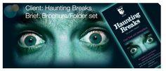 Haunting Breaks trifold A4 brochure design http://www.lunatrix.co.uk/cats.html