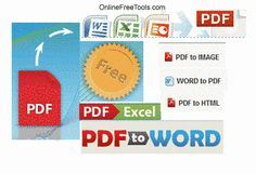 Convert PDF to word, excel and other docs to PDF
