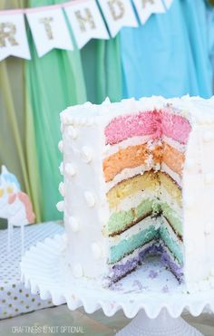 cupcakes wedding cakes rainbow unicorn birthday cake rainbowlayercake cakes 13148